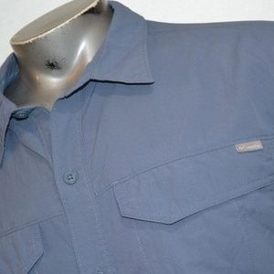 7679 Mens Columbia Fishing Shirt Size XL Blue